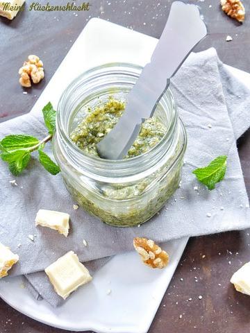 Rezept Sweet Pesto mit Toffee-Muss-Schnecken