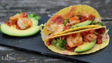 Rezept Taco Shells mit Garnelen und Avocado