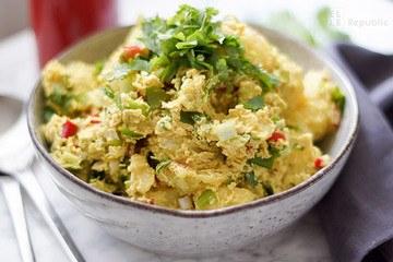 Rezept Tahini Curry Kartoffelsalat