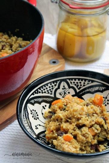 Rezept Tajine mit Huhn, Salzzitronen, Kürbis und Aubergine