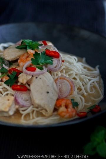 Rezept Tamarinden-Curry mit Hähnchen und Garnelen
