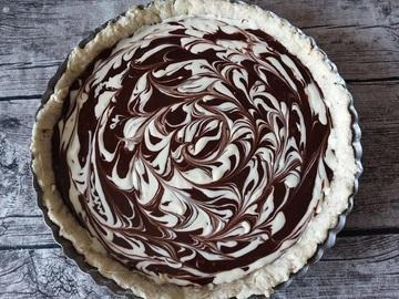 Rezept Tarte au Chocolat mit Cheesecake Swirl