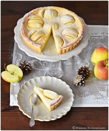 Rezept Tarte aux pommes et à la crème fraîche