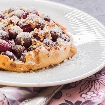 Rezept Tarte: Kirschen mit Marzipan