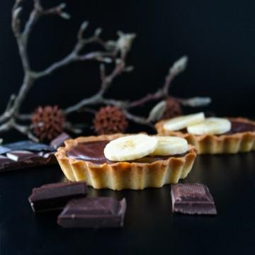 Rezept Tartelettes au chocolat et à la banane