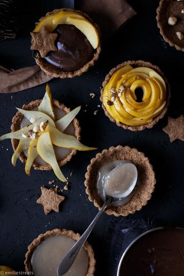 Rezept Tartelettes mit Dattelkaramell- und Schokopudding
