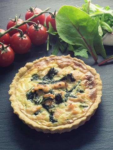 Rezept Tartelettes mit Lachs, Spinat und Ziegenfrischkäse
