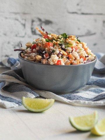 Rezept Thai-Erdnuss-Reissalat