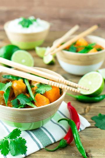Rezept Thai Fisch-Curry mit Süßkartoffeln