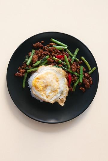 Rezept Thai Hackfleisch mit Basilikum
