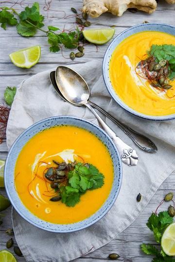 Rezept Thai Kürbis-Möhren-Suppe
