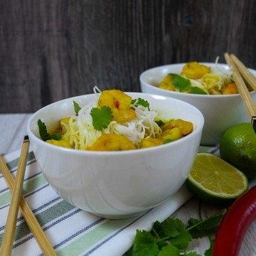 Rezept Thai-Noodle-Soup mit Garnelen