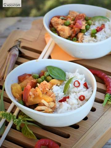Rezept Thai Red Curry Chicken