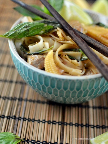 Rezept Thai Reisnudeln mit Chili und Rindfleisch
