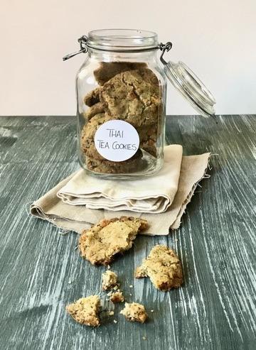 Rezept Thai Tea Cookies mit getrockneten Mangostückchen