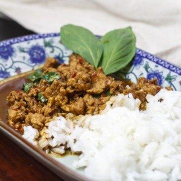 Rezept Thailändisches Schweinefleisch mit Chili und Basilikum