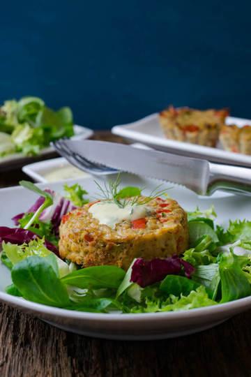 Rezept Thunfisch Muffins mit Honig-Senf Dip
