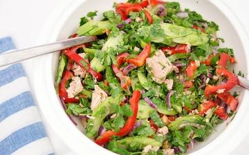 Rezept Thunfischsalat mit Petersilie