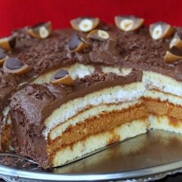 Rezept Tofee-Torte Karamell und Schokolade