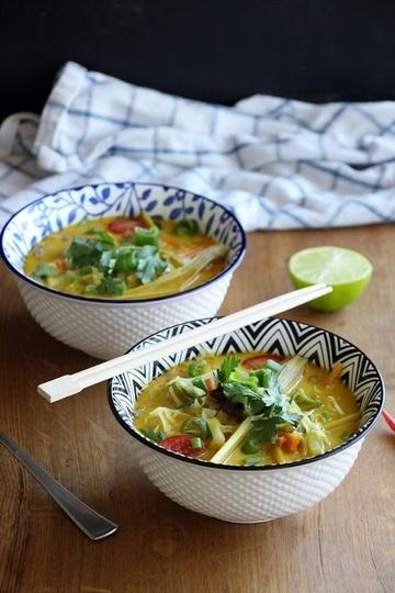 Rezept Tom Kha Hed - Thailändische Ingwer - Kokossupe mit Pilzen