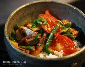 Rezept Tomaten-Ananas-Sellerie-Pfanne (asiatisch)