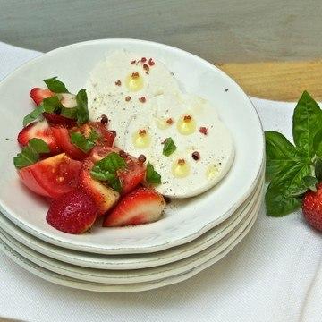 Rezept Tomaten-Erdbeer Salat
