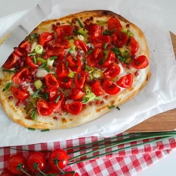 Rezept Tomaten-Flammkuchen