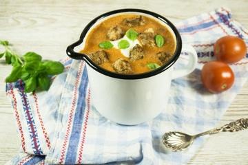 Rezept Tomaten-Kokos-Suppe mit Zimtcroutons