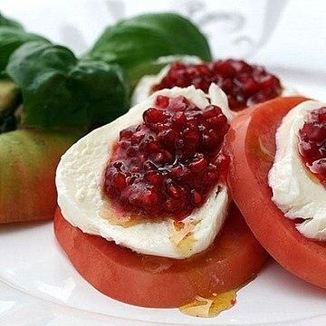 Rezept Tomaten, Mozzarella und Himbeeren