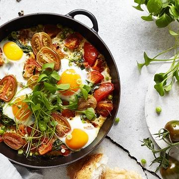 Rezept Tomaten Portulak Shakshuka