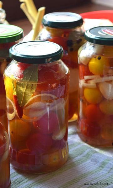 Rezept Tomaten süß-sauer eingelegt