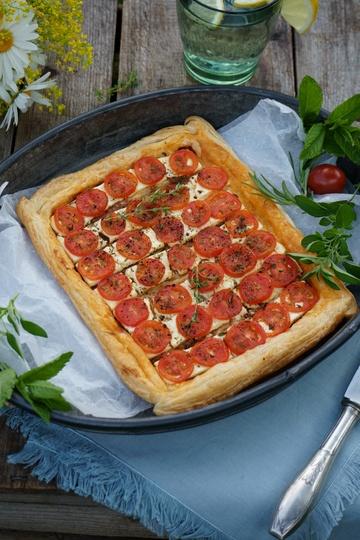 Rezept Tomaten Tarte mit frischem Thymian