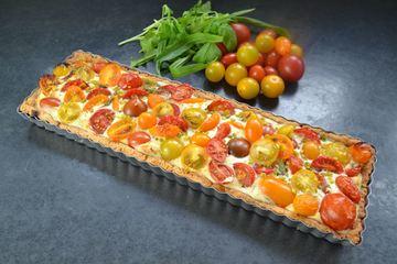 Rezept Tomaten-Ziegenkäse-Quiche mit Wildkräutern