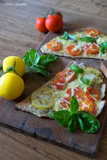 Rezept Tomatenfladen mit Roggenmehl
