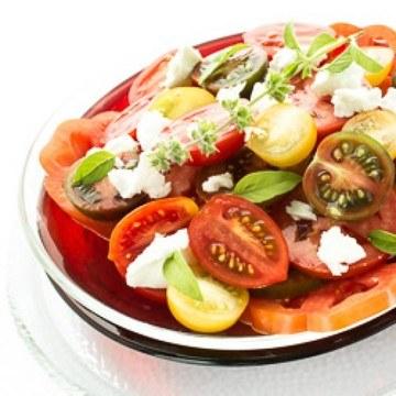 Rezept Tomatensalat mit Feta-Käse