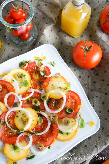 Rezept Tomatensalat mit Orangendressing