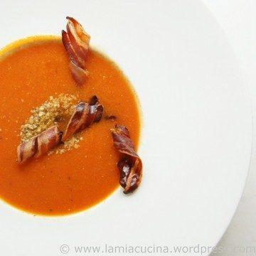 Rezept Tomatensuppe mit Knusperspeck