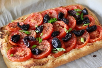 Rezept Tomatentarte mit Mandeln