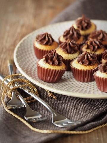 Rezept Tonka-Muffins mit Zartbitter-Ganache