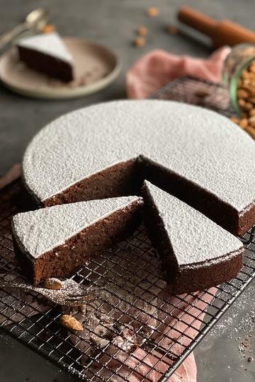Rezept Torta Caprese – di Capri (Schoko-Mandelkuchen)