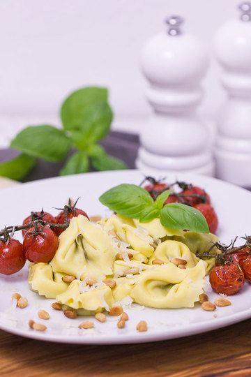Rezept Tortellini mit karamellisierten Tomaten