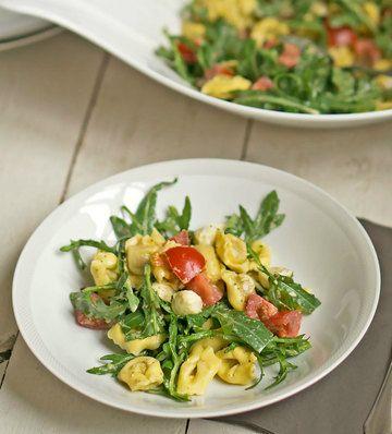 Rezept  Tortellinisalat mit Rucola