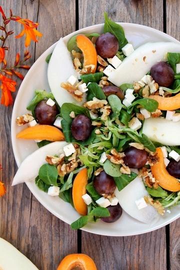 Rezept Trauben-Melonen-Aprikosen-Salat