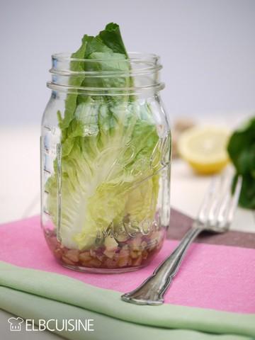 Rezept Traumhafter kurz gebackener Romana auf Champignons im Glas