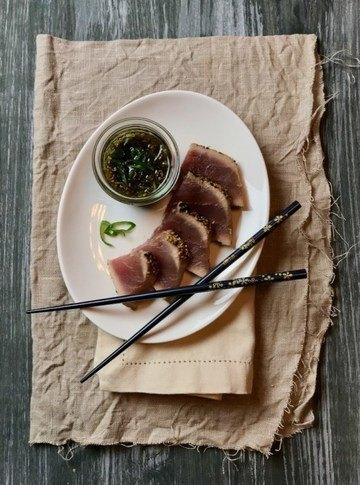 Rezept Tunfisch-Tataki mit Ingwer-Honig-Dip (nachgebaut nach Ottolenghi)