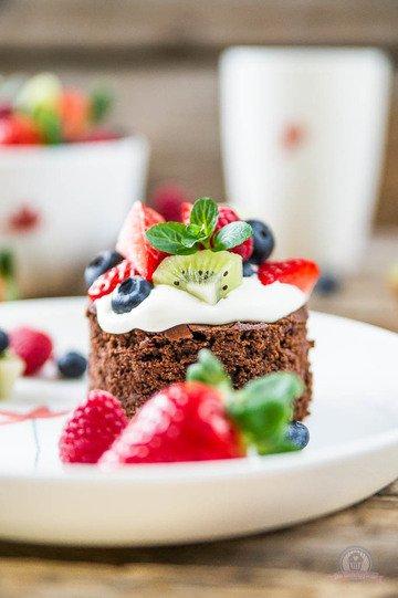 Rezept Tutti Frutti Brownie Cakes