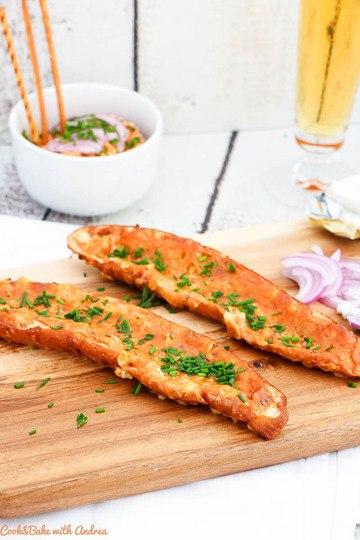 Rezept Überbackene Laugenstangerl mit Obazdn