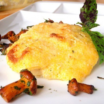 Rezept Überbackener Fisch mit Ricotta-Polentakruste