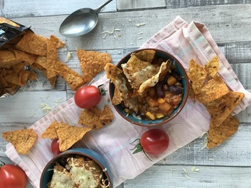 Rezept Überbackenes Chili con Carne mit Tortilla Chips