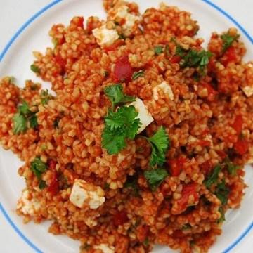 Rezept Ungarischer Gurkensalat trifft türkischen Bulgursalat